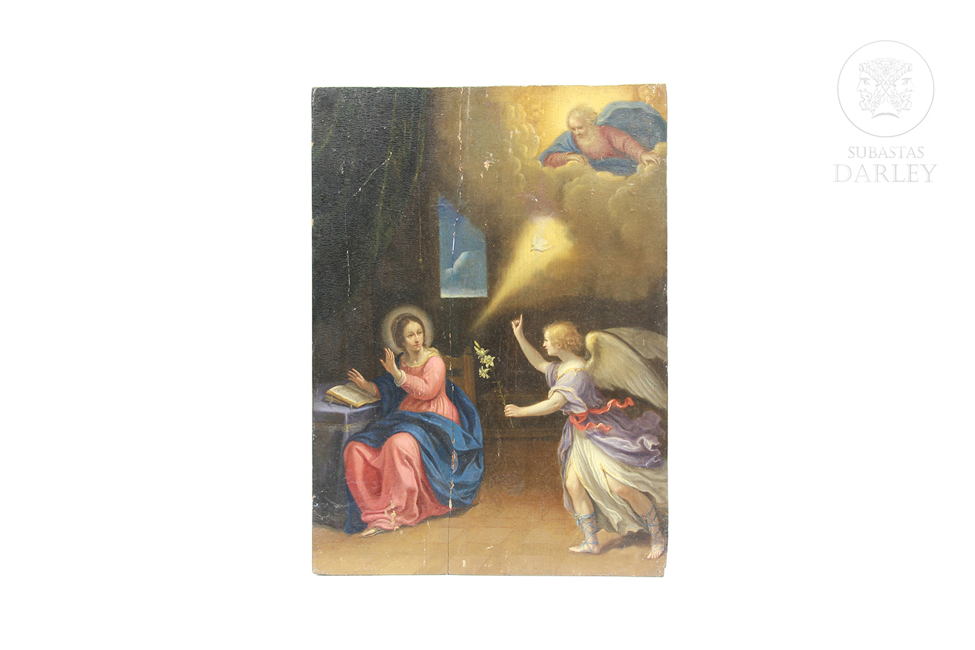 "Escuela italiana s.XVIII ""Anunciación"""